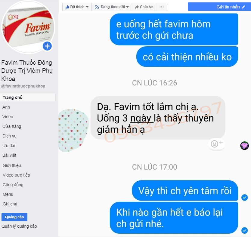 Phản hồi Favim từ Fanpage